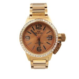 TW Steel Canteen Rose Sunray Dial Watch